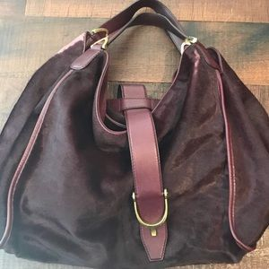 Authentic Gucci Soft Leather and Horsehair Hobo